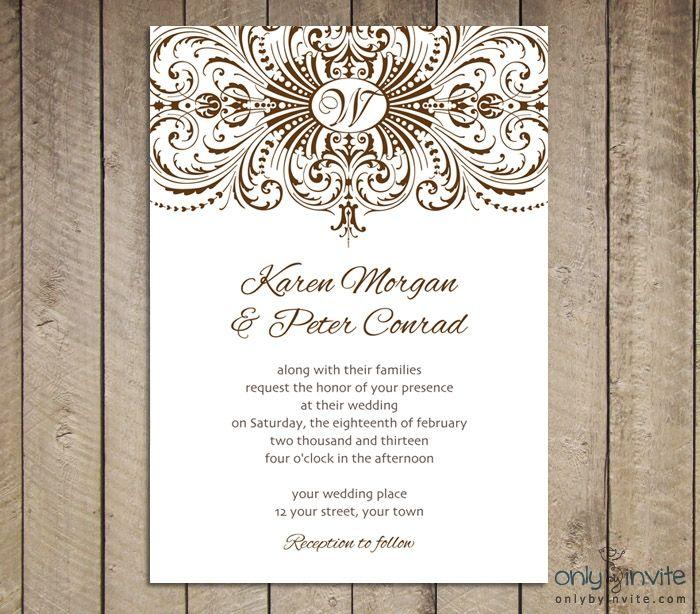 [printable Wedding Invitation Template] Invitation Template A Wedding  Invitation Templates A Printable Free Printable Wedding Templates Blank  Wedding ...