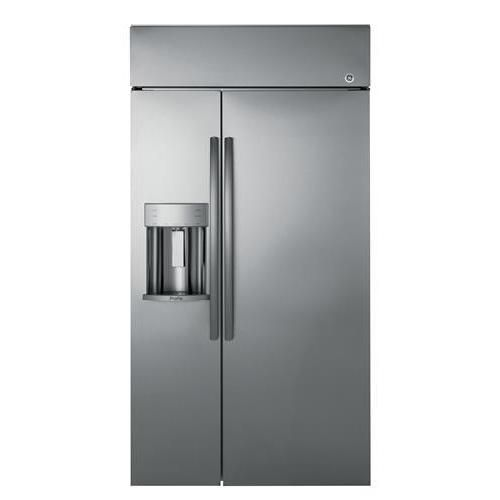"General Electric PSB42YSKSS 42"" built-in Side by Side Refrigerator, Silver"