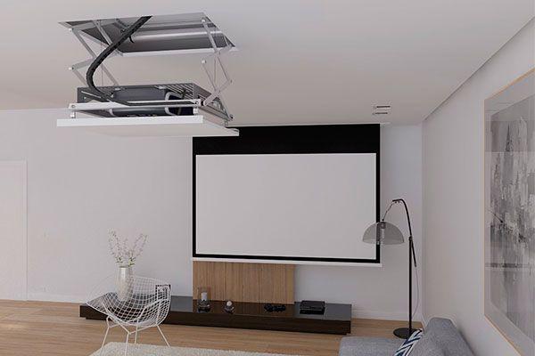 Elevador eléctrico y pantalla de proyección para video beam en cali valle del cauca