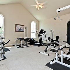 traditional home gym by Custom Home Builder