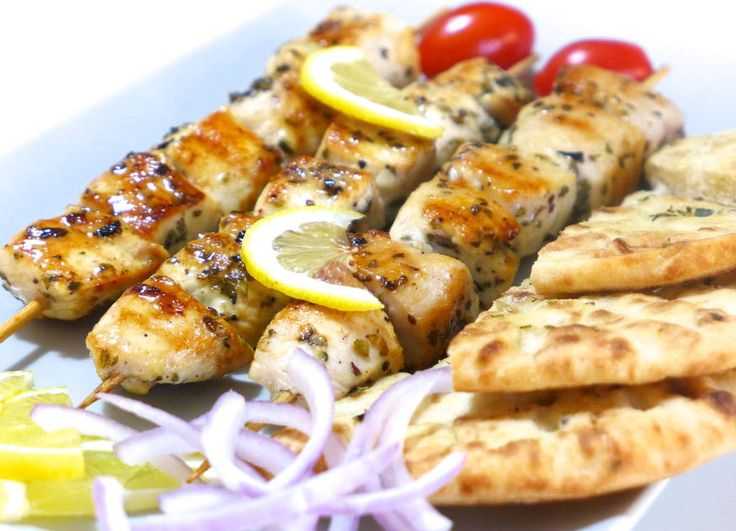 I cooked chicken souvlakia, chops and chicken legs on a traditional Cypriot charcoal BBQ. This offers the best taste over gas.