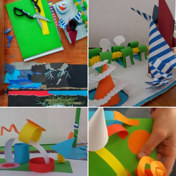 Experimenting with paper art | Exploring space and form | Ansofie Jordaan Art | Paintings & Art classes
