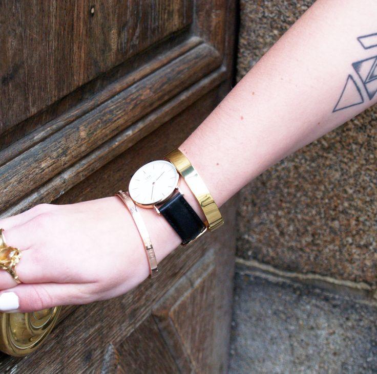 Mix montre Daniel Welligton + bracelet Bonnie Parker = PERFECT !