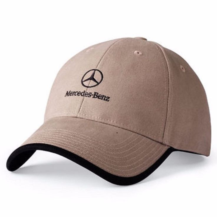 Mercedes Benz Adjustable Ball Cap Wrapped Visor Twill New Light Brown OEM #MercedesBenz