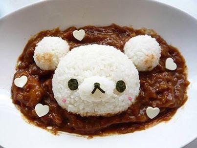 cute rice plate