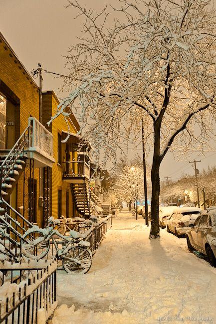 "bustitaway: "" Snow in Montreal """
