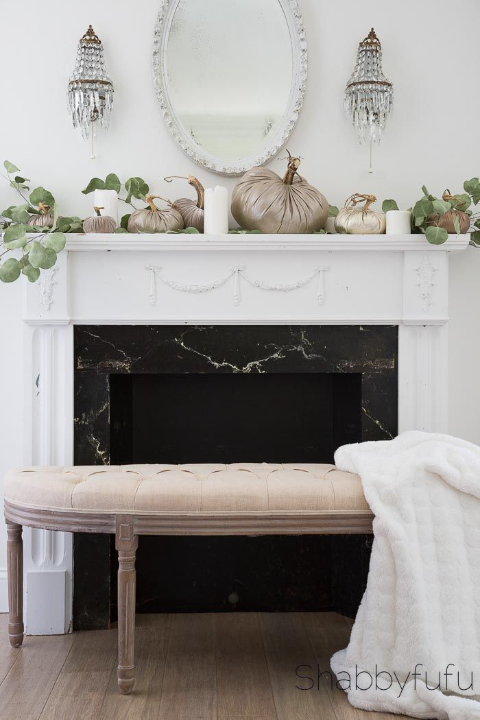 How To Create A Simple Elegant Mantel For Fall #fall #decor #design