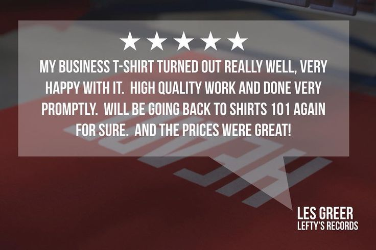 Another 5-star review & happy customer. Thanks for the kind words Les! Voted #1 Record Store in Nebraska Lefty's Records is a great place for all of your vinyl needs. www.leftysrecords.com . e tyson@shirts101.com c 402-441-5555 w www.shirts101.com . . . #ScreenPrint #ScreenPrintShop #Shirts101 #LeftysRecords #LincolnNebraska #LNK #Nebraska #TheGoodLife #VinylRecords #VinylFanatic #VinylCollection #ScreenPrinter #CustomApparel #CustomDesign #SupportLocal #Review #Happy…