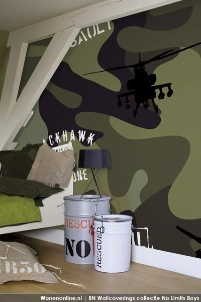 No limits is de digitale collectie wandbekleding van bn wallcoverings in de coole dudes - Kamer voor jaar oude jongen ...