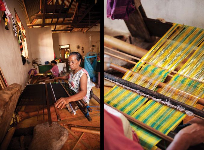It can took 2-4 weeks to make an Ikat sarong. With simple tools, these traditional Ikat weavers in Wakatobi demonstrated the intricate process of handdyeing, binding the strands together, and other steps required in the making of this centuries-old mode of craftsmanship. Sadly, ikat weaving is a dying skill in Wakatobi, as young women today are reluctant to learn this ancient form of artistry.