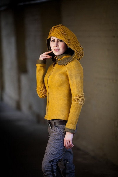 Felted Saffron Jacket by DianaNagorna on Etsy,