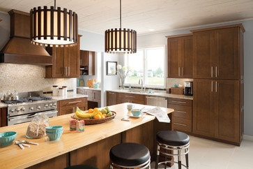 Mission Cherry Chocolate contemporary kitchen cabinets