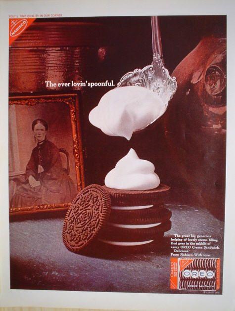 1968 ad Nabisco Oreo Cookies