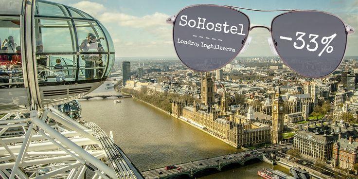 Scopri #Londra con uno sconto del 33% al SoHostel!