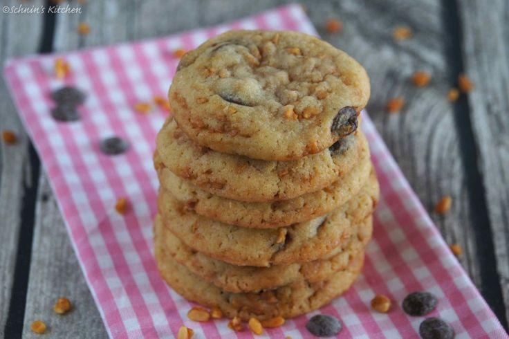 {Keks-Liebe} Chocolate-Chip-Cookies mit crunchy Erdnüssen