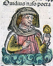 Ovid as imagined in the Nuremberg Chronicle, 1493.