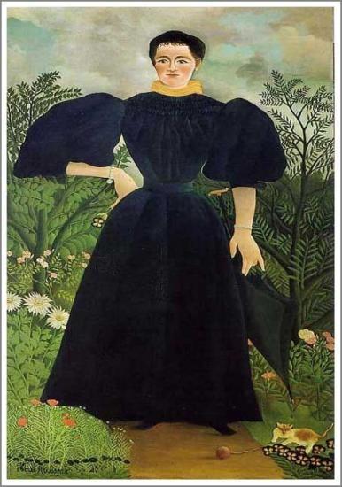 「 マダムMの肖像」Portrait de Madame M.  1895-97年 原画サイズ(198×115cm)   所蔵:オルセー美術館