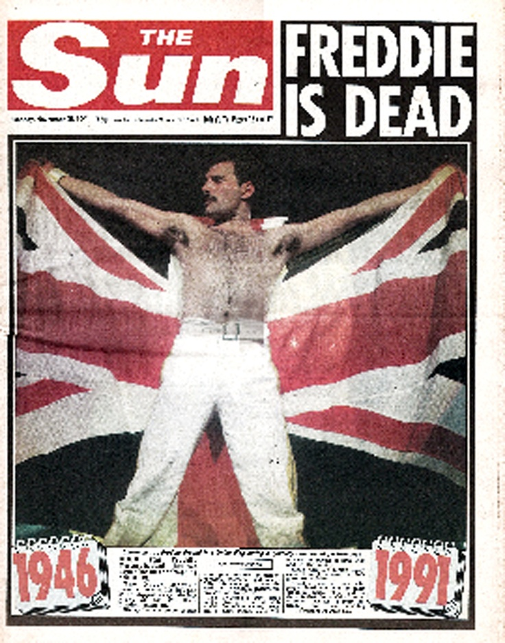 Freddie died of AIDS-related pneumonia  on 24 November 1991 at the age of 45, at his home in London.  It was just one day after he released a statement confirming he had AIDS.