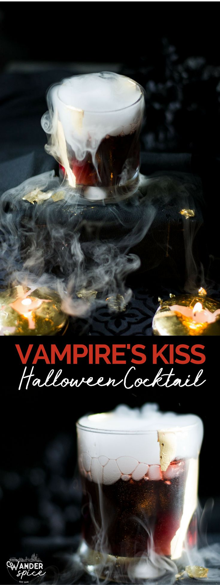 Vampire's Kiss Cocktail - Halloween Cocktail | Recipe | Spooky | Easy | Spooky | with Dry Ice