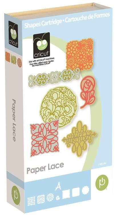 Cricut® Paper Lace Cartridge for wedding crafts, invitations, place cards, favors etc.