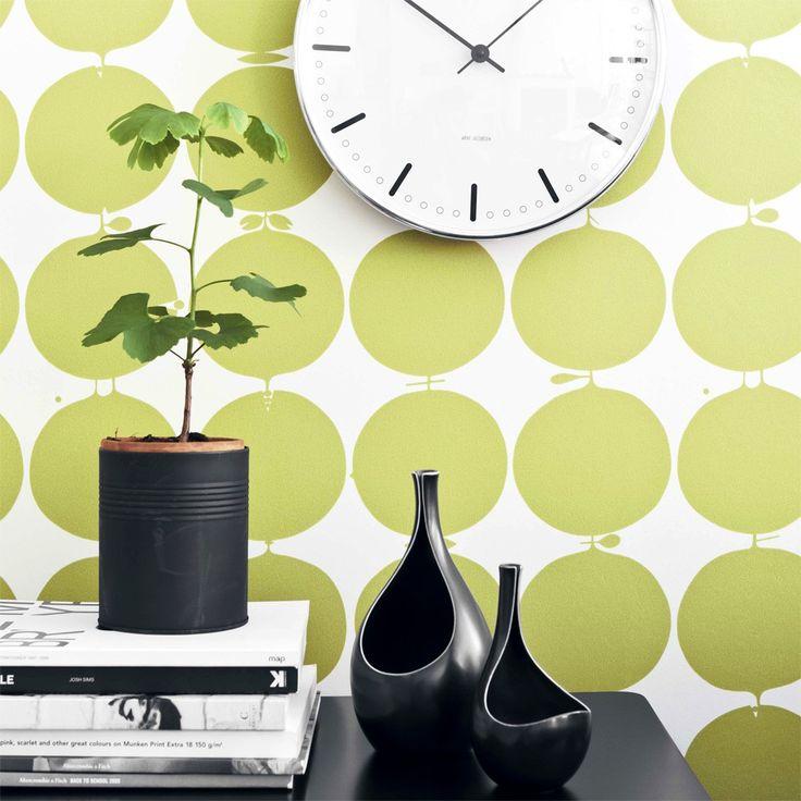 Tapete TALLYHO olivgrün - BORAS Wallpaper -