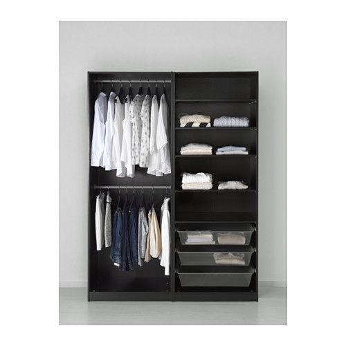 Ikea Kleiderschrank Schwarz Metall ~  Ikea Pax Kleiderschrank auf Pinterest  Pax Kleiderschrank, Schränke