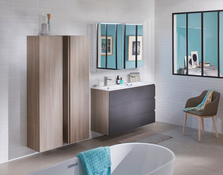31 best la salle de bain images on pinterest furniture - Meuble de salle de bains lapeyre ...