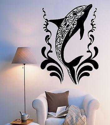 Wall Vinyl Dolphin Ocean Sea Ornament Mural Vinyl Decal (z3335)