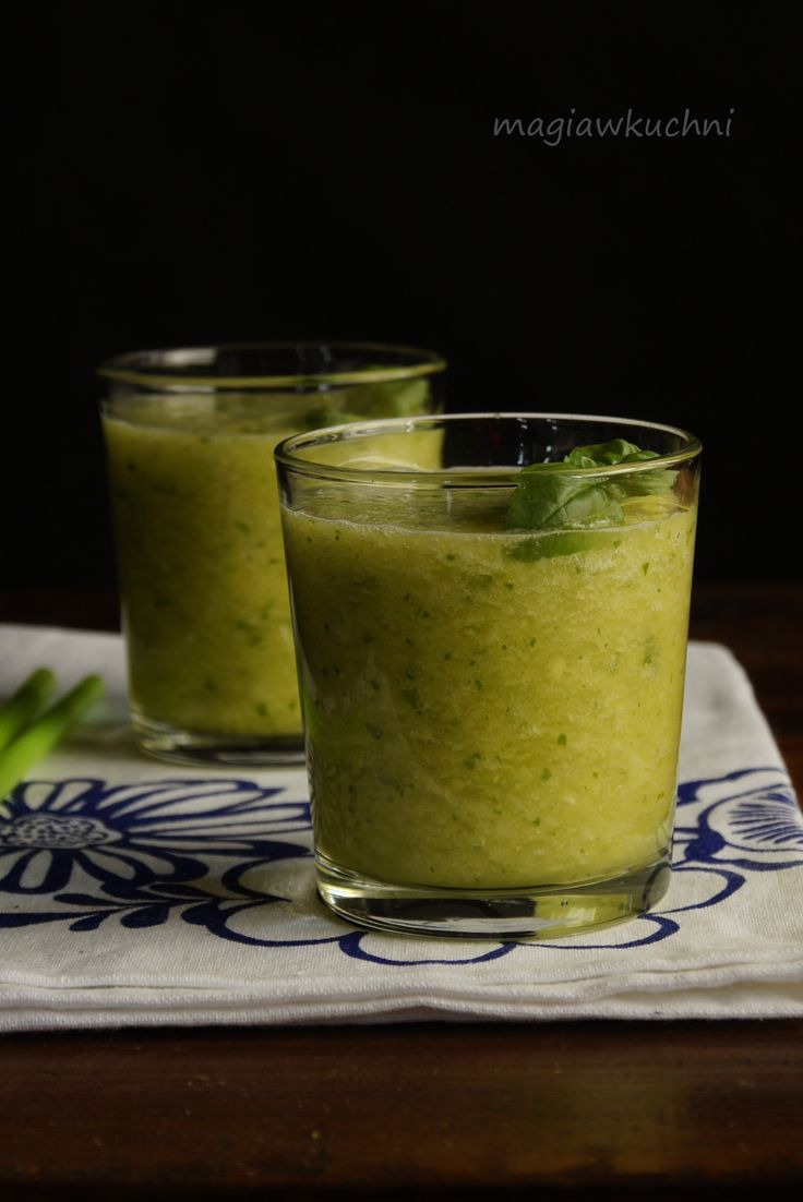 Smoothie from pineapple and Basil / Smoothie z ananasa i bazylii