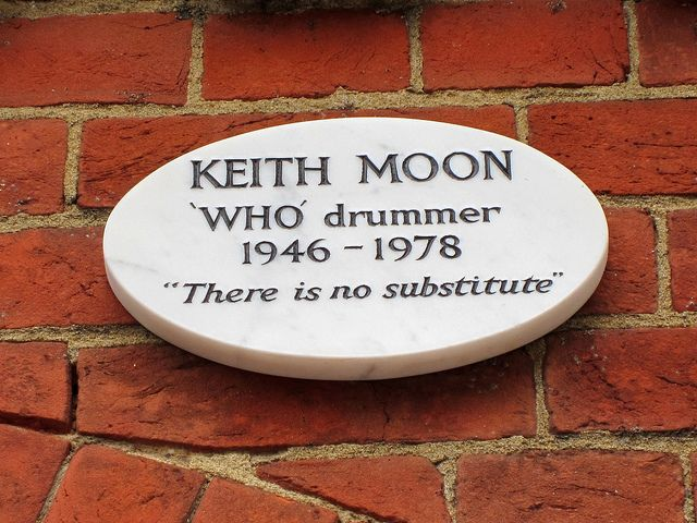 Keith Moon - English musician best known as the drummer of the English rock group the Who. He was noted for his unique drumming style and his eccentric, often self-destructive behaviour. In 2011, Moon was voted the second-greatest drummer in history by a Rolling Stone readers' poll. His drumming continues to be praised by critics and musicians.