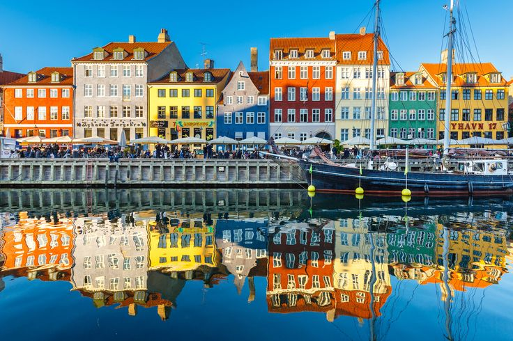"""Nyhavn in Copenhagen. #1 """"Thing to Do"""" in Copenhagen...just to see and walk around.  People watch.  Maybe something to eat or drink."""