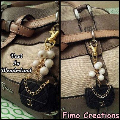 Guarda questo articolo nel mio negozio Etsy https://www.etsy.com/listing/254374459/black-bag-charm-fashion-brand-miniature