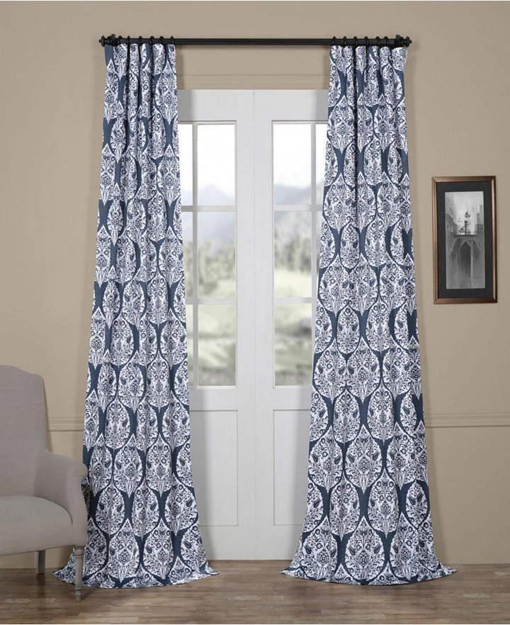 Exclusive Fabrics Furnishings Woodcut Blackout 50 X 96 Curtain