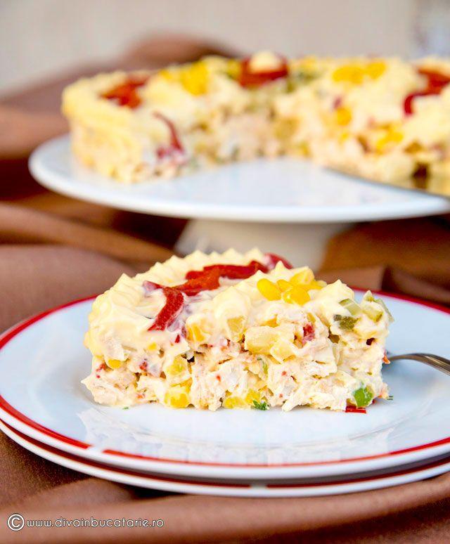 Salata de pui cu ananas si porumb