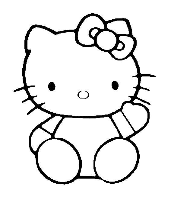 Kleurplaat Hello Kitty Hello Kitty Color Pages Pinterest