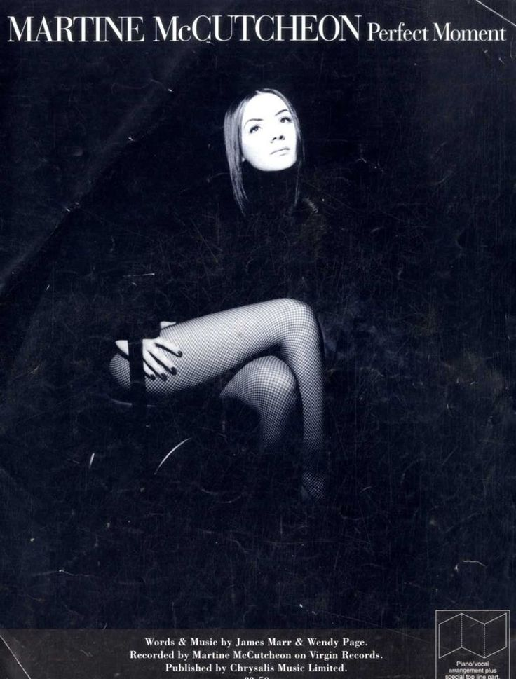 SHEET MUSIC MARTINE MCCUTCHEON : PERFECT MOMEMNT | eBay!