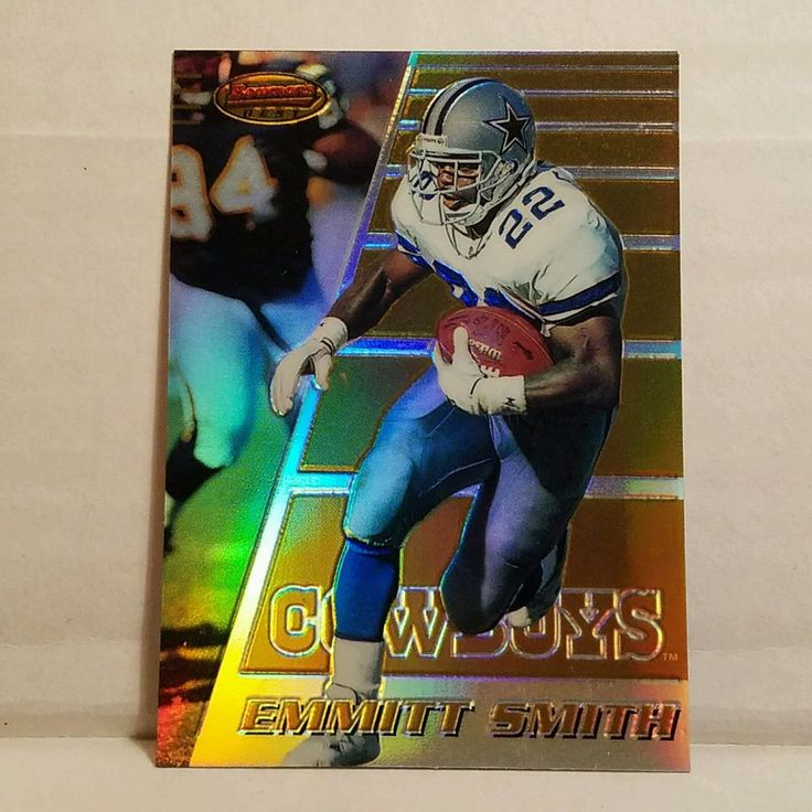 Emmitt Smith Football Card 1996 Bowman's Best Refractor HOF Dallas Cowboys #forsale #emmittsmith #footballcard #bowmansbest #NFL #ebay #HOF #dallascowboys #vintagecard #sportscard #football #cowboys #rarecard #refractor http://ow.ly/6jXb307d96y