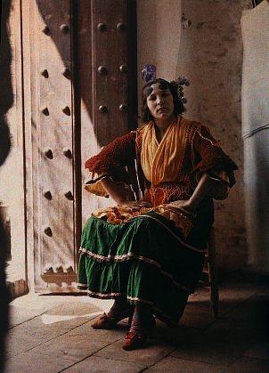 Spanish Gypsy; Granada, Spain, ca. 1914  Photo by Jules Gervais-Courtellemont