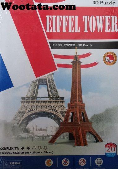 Mainan Eiffel Tower 3D Puzzle