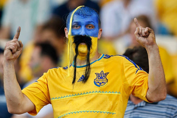 Funky hair - Sweden fan at Euro 2012