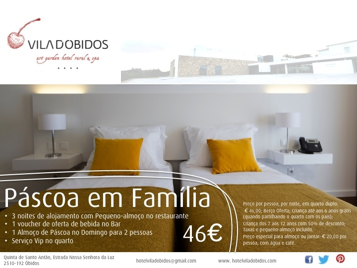 3 nights for Easter with Family in Óbidos, Portugal.