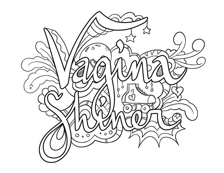 Adult coloring swear words coloring pages for Coloring pages of pussy