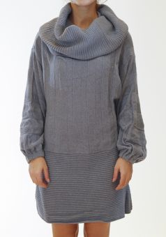 Knit dress Rib neck Soft texture Loose fit, one size by Ioanna Kourbela  #dress #kourbela #greek4chic