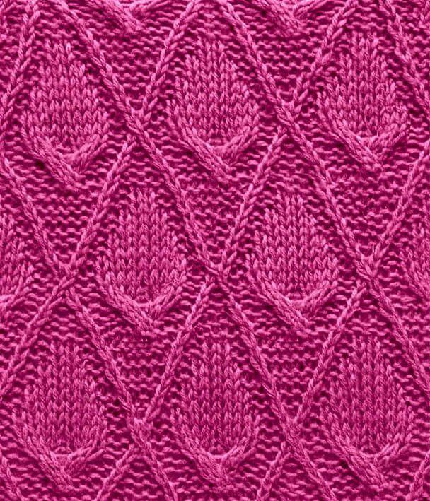 Leaf calla lilies | Cool knitting pattern