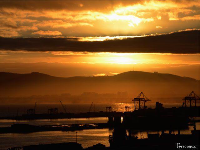 Sunrise, Table Bay Harbour, Cape Town, August 2012 (c) Florescence