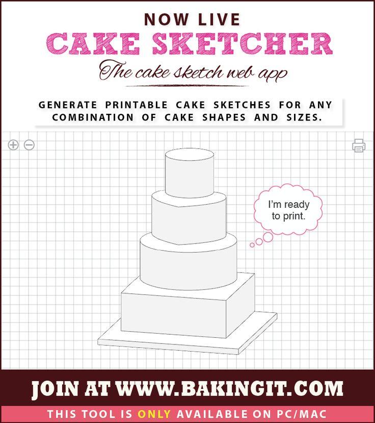 Design Your Own Wedding Cake: #free #cake #sketcher #web #app -It #draws A Cake #Sketch