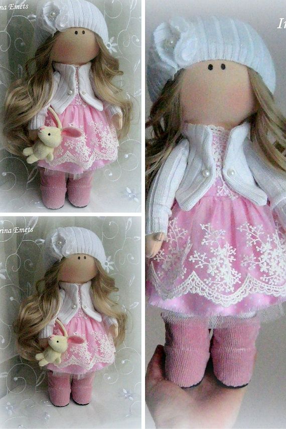 Muñeca hecha a mano muñeca de tela Tilda por AnnKirillartPlace