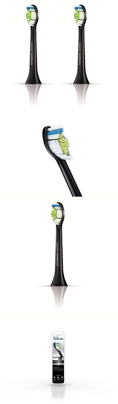 Toothbrush Replacement Heads: Philips Sonicare Hx6062/94 2 Piece Diamond Clean Standard Brush Heads, Black BUY IT NOW ONLY: $32.32
