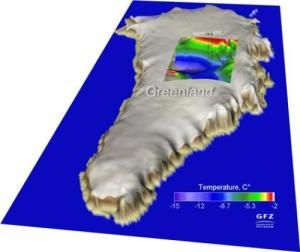 Greenland ice is melting -- even from below: Heat flow from the mantle contributes to the ice melt