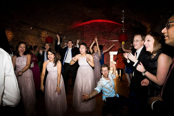 Fun wedding dance floor with Mighty Fine Entertainment at RSA House London © Fiona Kelly Photography